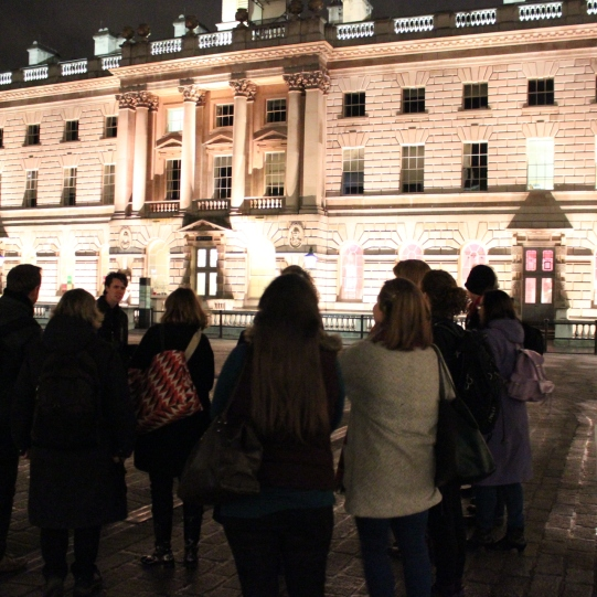 A guided tour of the sounds of SOmerset House, which formed part of LIsten/Here, the final event as part of my Sound and Music Embedded residency. January 2015.
